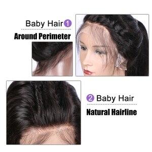 Image 5 - EAYON Peluca de cabello humano con encaje completo prearrancado, pelo de bebé liso sedoso, pelucas de cabello Remy peruano, nudos blanqueados, densidad del 130