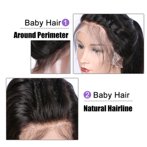 Image 5 - EAYON önceden koparıp tam sırma insan saçı peruk bebek saç ipeksi düz perulu Remy saç peruk ağartılmış knot 130 yoğunluk