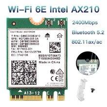 3000 Мбит/с Wi-Fi 6E AX210 NGFF M.2 Wi-Fi карта BT5.2 2,4G/5 ГГц 802.11AX беспроводная сетевая карта для Intel AX210 AX200 Windows 10 Linux