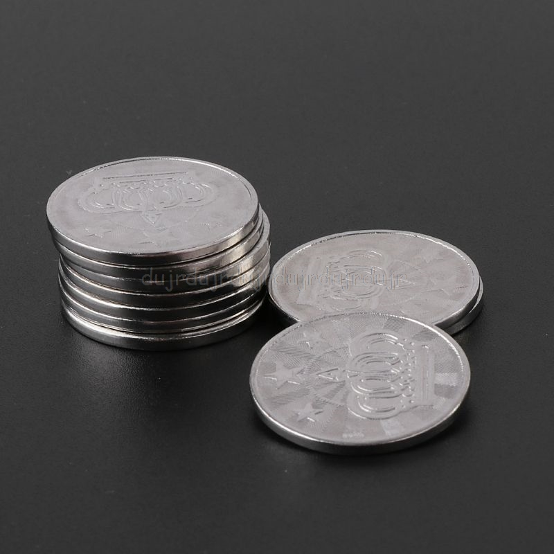 10pcs 25*2mm Game Token Stainless Steel Arcade Game Coin Pentagram Crown Tokens Au31 19 Dropship