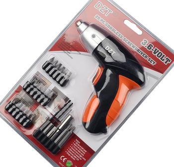 цена на 3.6V Cordless Screwdriver Mini Rechargeable Screwdriver Electric Screwdriver Power Drill Portable Repair Tool Set