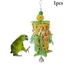 Parrot Shredder Paper Toy Bite Resistant Bird Foraging Toy Parakeet Chew Toy With Bell Bird Educational Toy Bird Accessories