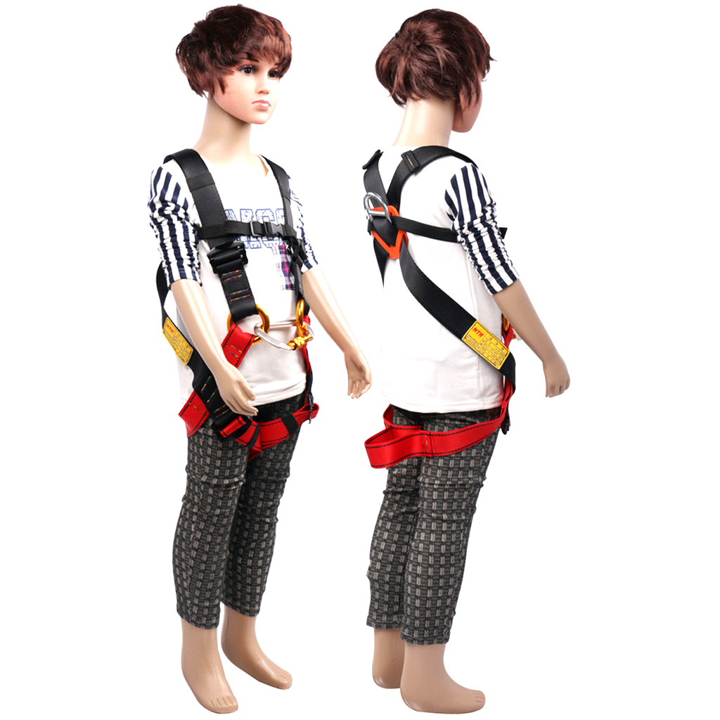 Polyester Heavy Duty Kids Full Body Safety Harness For Rock Climbing Hiking For Rock Climbing Caving Rappelling Exploring