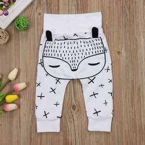 Baby Pants Baby-Boys-Girls Leggings Trousers Fox-Bottoms Newborn Natural-Cotton Kids
