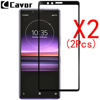 2Pcs 9H Tempered Glass For Sony Xperia 1 Case Full Cover Glass Mobile Phone Accessories Screen Protector Film For Xperia1 Glass