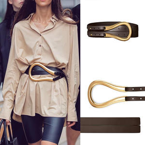 Designer Belt Waistband Genuine-Leather High-Quality Women Luxury Brand Fashion for Coat