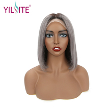Brazilian Short Bob Virgin Wig Straight Lace Front Human Hair Wigs 613 Blonde Gray Lace Frontal Wig For Black Women factory price silk top lace front wig virgin brazilian hair wigs for black women yaki straight full lace wig with baby hair