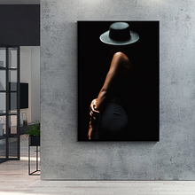 Modern Sexy Woman Art Body Black Background Canvas Printing Posters Wall Art Pictures for Living Room Home Decor
