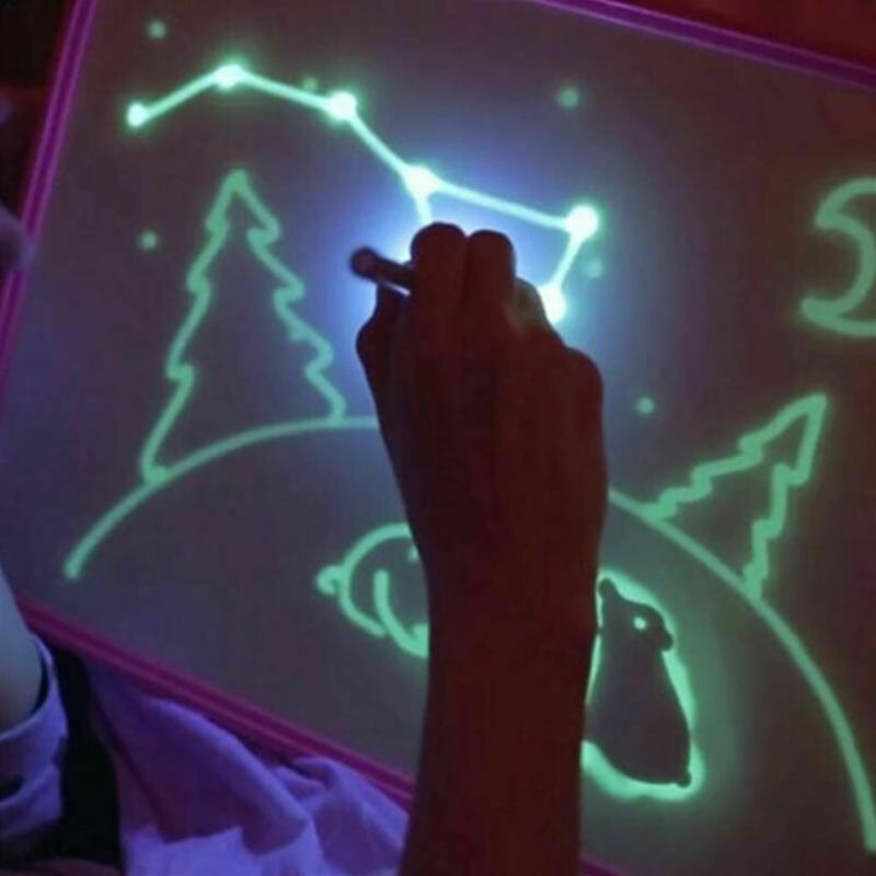 Magic Beam Tablet For ..Fluorescent Drawing Board Draw With Light Fun And Developing Toy Educational Magic Draw Gift Kids New