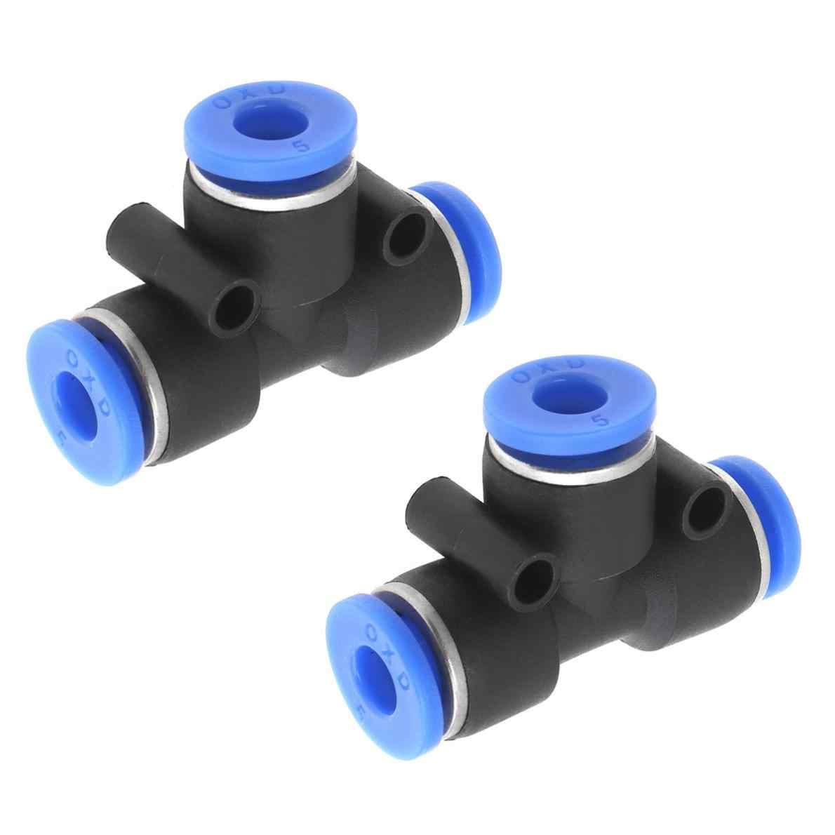 8mm 3 formas guarnición rápida de aire neumático Tubo Acoplador Adaptador De Conector 10 un.