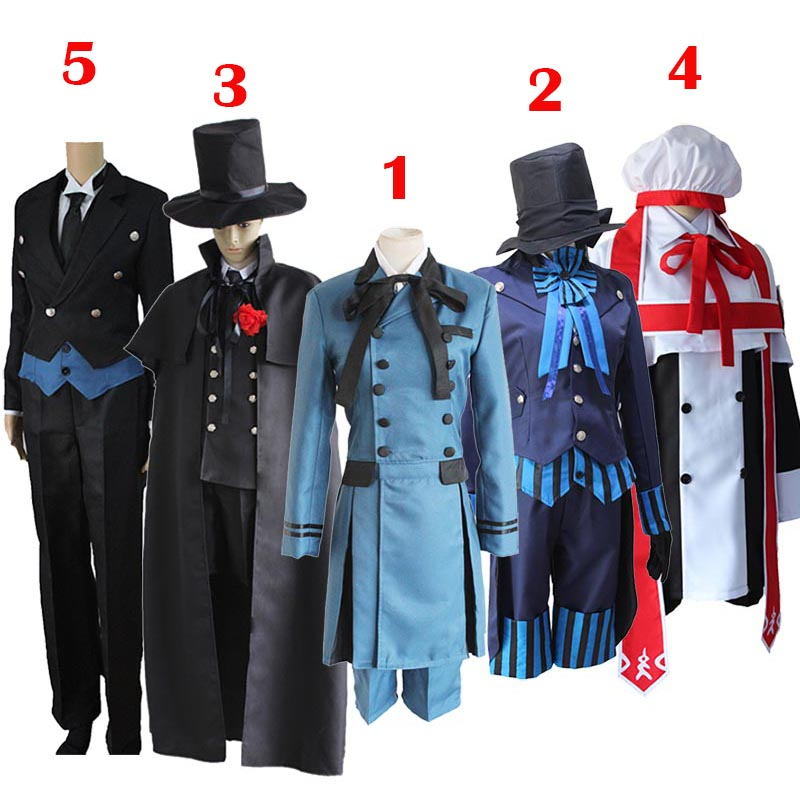 Black Butler 2 Kuroshitsuji Ciel Phantomhive Blue Boy Lolita Suit Anime Unisex Cosplay Costume Sets