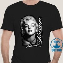 4180A 2019 Marilyn Monroe Face Signature Glamour Shot Pinup Oversized Print -Mens T-shirt Lil Uzi Vert Harajuku Men Tshirt