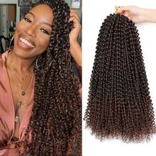Passion Twist Crochet Hair Water Wave Crochet Braiding Hair Long Bohemian Hair Passion Twist Synthetic Natural Hair Extensions(China)