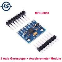 Sensor de giroscopio y acelerómetro MPU-6050 MPU6050 GY-521, 6DOF, IMU de tres ejes para Arduino Quadcopter Drone RC 3-5V I2C 40P hembra a macho