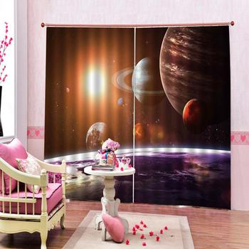 blue stars curtains Luxury Blackout 3D Window Curtains For Living Room Bedroom Customized size