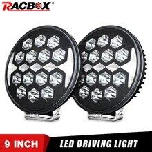 Racbox 9 Polegada 150 w de alta potência led trabalho luz ponto feixe condução nevoeiro lâmpada para jeep atv uaz suv 4wd 4x4 caminhão trator carro retrofit