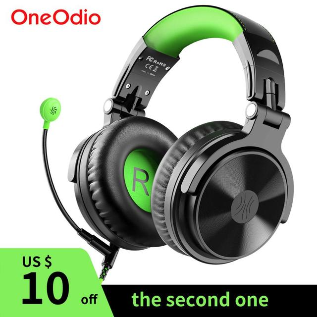 Oneodio Wired Stereo Gaming Headphones Call Center Office Headset With Noise Cancelling Microphone Studio DJ Headphone Green