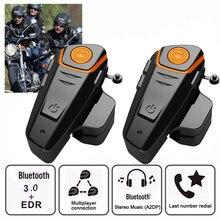 1000M BT S2 פרו אופנוע קסדת אינטרקום אופנוע אלחוטי Bluetooth אוזניות BTS2 עמיד למים BT האינטרפון עם FM