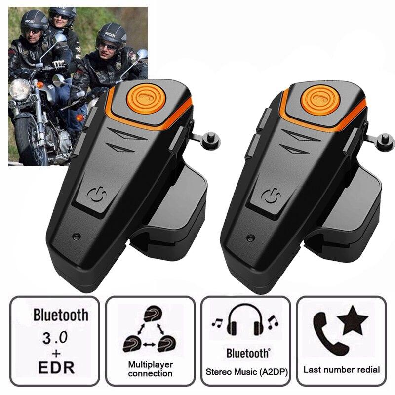 BT-S2 Pro intercomunicador para casco de motocicleta moto Auriculares inalámbricos con bluetooth impermeable BT Interphone con FM