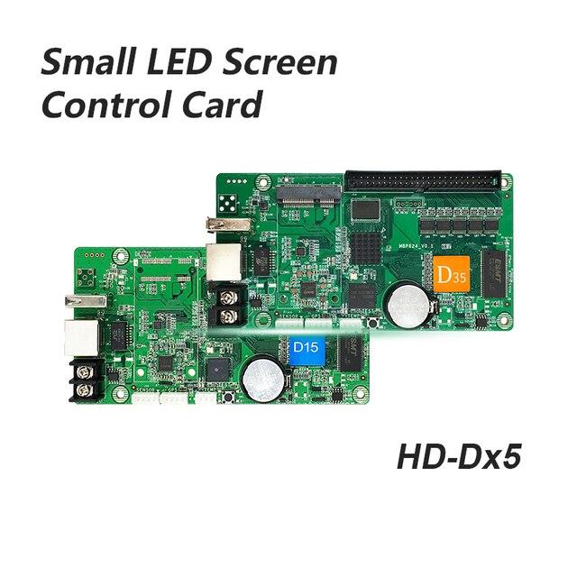 Huidu HD D15 HD D35 pantalla led a todo color pequeña tarjeta de control de puerta pantalla de coche pantalla de señalización