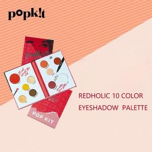 Redholic 10 Kleur Oogschaduw Palet Ins Hot Oogschaduw Glitter Shimmer Waterdicht En Langdurige Glitter Pigment