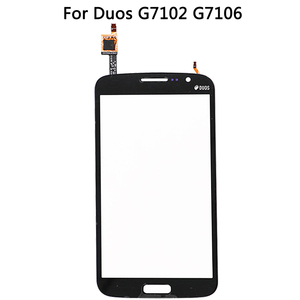 Image 3 - 삼성 갤럭시 그랜드 2 II 듀오 G7102 G7106 하우징 미들 프레임 배터리 백 커버 + 터치 스크린 디지타이저 패널