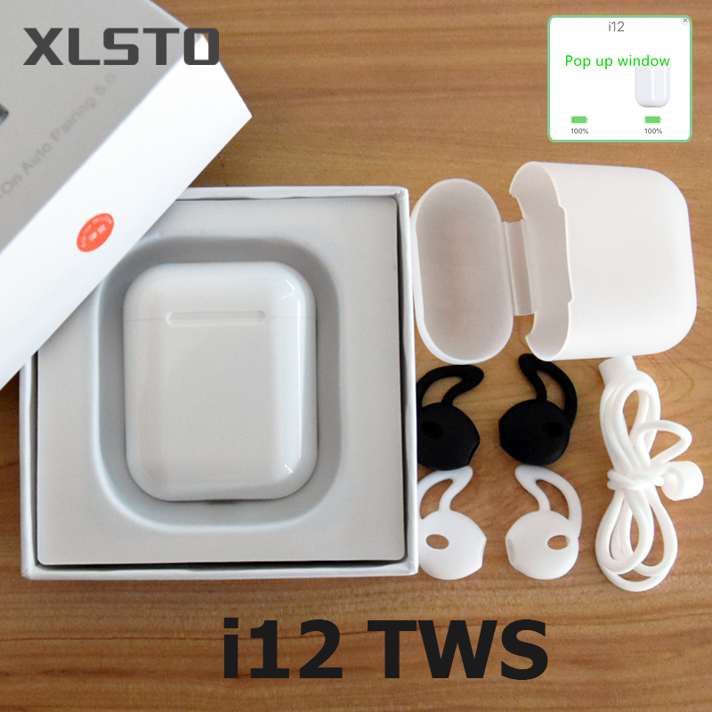 2019 i12 tws Wireless Bluetooth 5.0 Earphone Touch control air Earbuds 1:1 mini case PK i120 i30 i60 for iPhone Android phone i200 tws