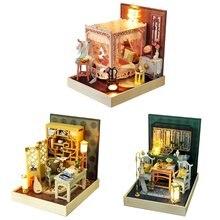 Новый миниатюрный кукольный домик с мебелью комплект для самостоятельного