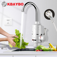 KBAYBO Water Heater Tap Kitchen Faucet Instantaneous Shower Instant Heaters Tankless Heating tap EU plug