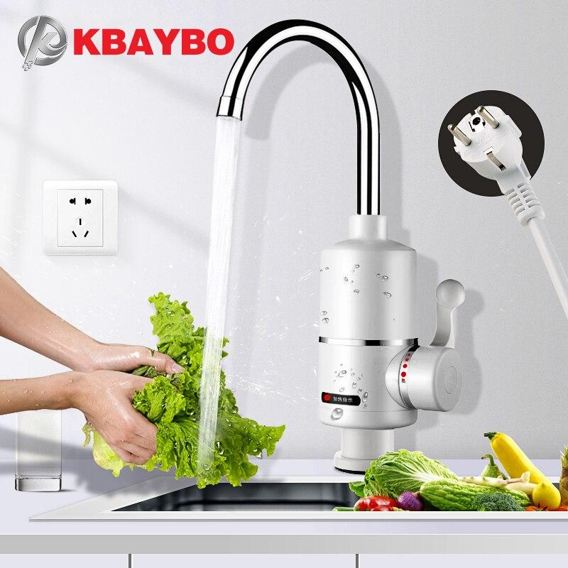 KBAYBO chauffe-eau robinet cuisine robinet chauffe-eau instantané douche chauffe-eau instantané robinet de chauffage d'eau sans réservoir prise ue