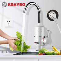 KBAYBO de agua grifo de cocina calentador de agua instantáneo ducha calentadores instantáneos grifo de agua sin tanque enchufe de la UE