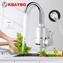 Kbaybo 水ヒータータップ台所の蛇口瞬時水ヒーターシャワーインスタントヒータータンクレス水加熱タップ eu プラグ