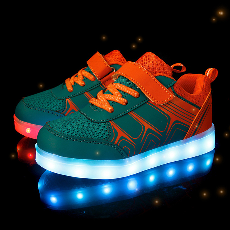 Size 25-37 Kids Luminous Shoes With Lighted Sole Children Sneakers With LED Lights USB Charged Glowing Sneakers For Boys Girls