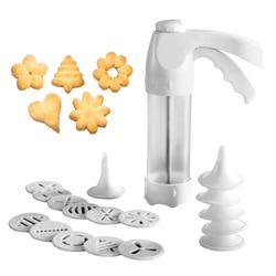 Zestaw wykrawacz do ciastek maszyna do robienia ciastek narzędzie do dekoracji ciast 12 form prasowych i 6 końcówki do wyciskania ciasta narzędzie do robienia ciasteczek|Formy do wafli|Dom i ogród -