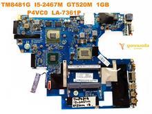 Оригинальная материнская плата для ноутбука ACER 8481G TM8481G I5-2467M GT520M 1GB P4VC0 LA-7361P протестирована хорошая бесплатная доставка