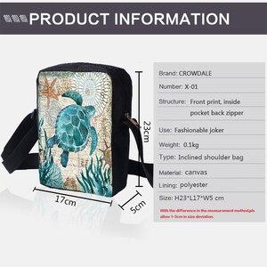 Image 3 - Bolsas carteiro femininas crowdale, mini bolsas casuais estampadas da vida marinha para crianças