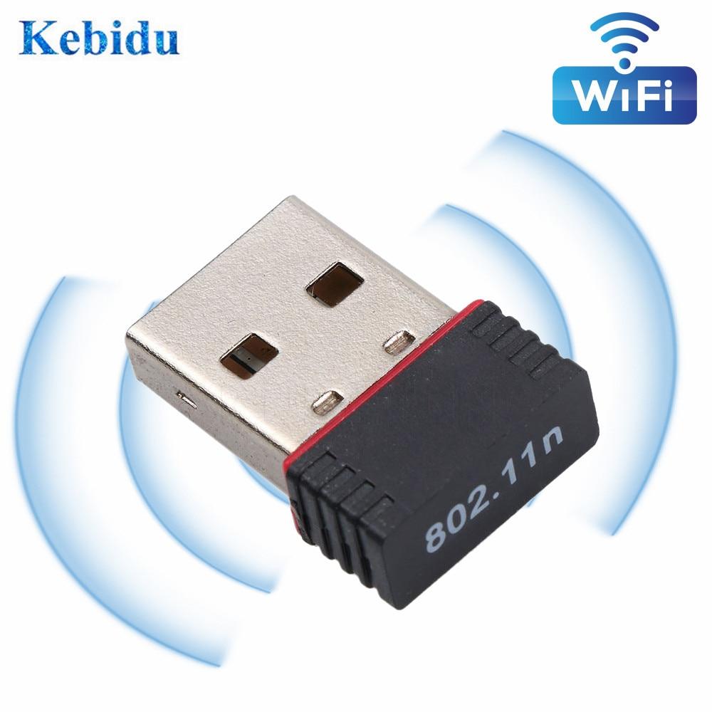 KEBIDU Mini USB 2.0 802.11n Standards 150Mbps Wifi Network Adapter Wireless Network LAN Card RTL8188EU For PC Desktop