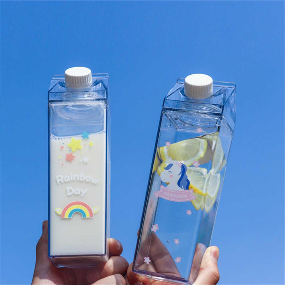500ml Plastic Bottle Cup Drink Strew Top Lid Water Juice Milk BPA Free Drinkwate