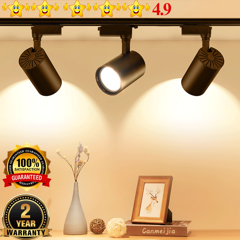 Power COB Led Track Light Lamp 12W 30W 20W 40W Track Lamps Lights Lighting Fixtures Spotlights 220V for shop clothing Store Home