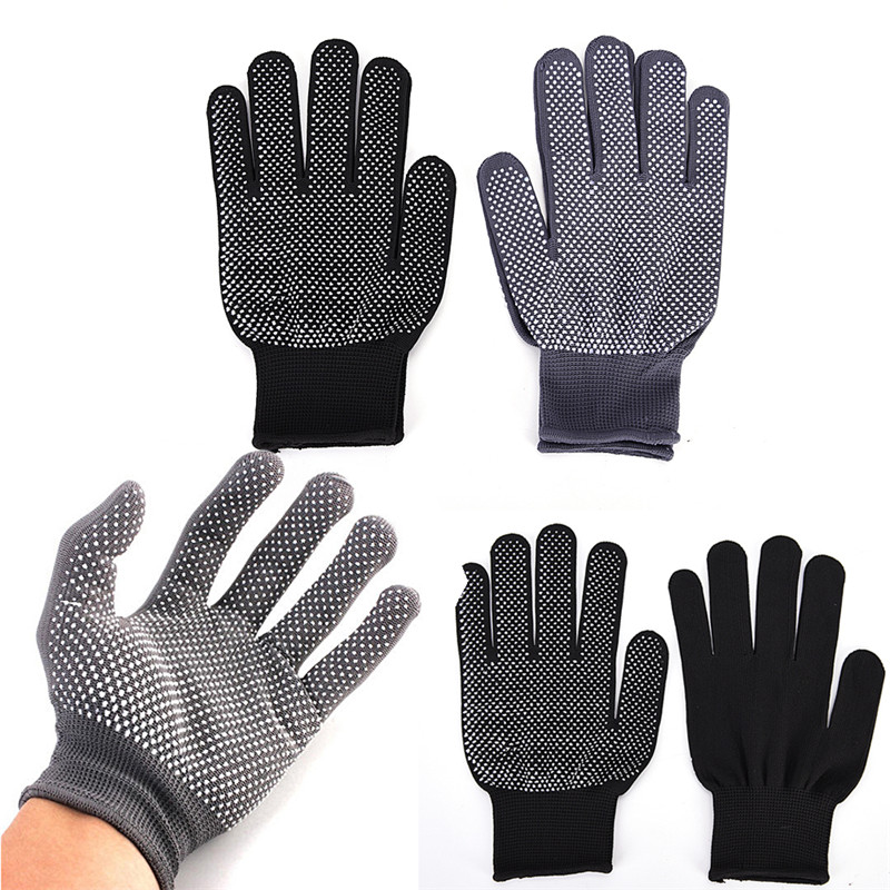 1Pair Hair Straightener Perm Curling Hairdressing Heat Resistant Finger Gloves Hair Styling Accessories