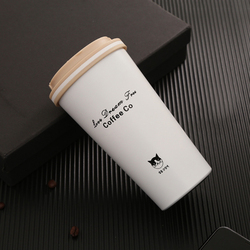 500ml kubek termiczny filiżanka kawy z pokrywką Thermocup butelka ze stali nierdzewnej termosy kubek termiczny na kubek do samochodu w Butelki sportowe od Sport i rozrywka na
