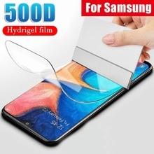 Защитная Гидрогелевая пленка для Samsung A71 A51 A41 A31 A70 A50 S20 S10 S9 S8 Note 20 Ultra 10 Plus (не стекло) защитная пленка из фольги