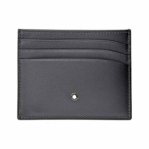 Montblanc Meisterstuck Business Card Holder MB-113172 Men's Grey Color Leather