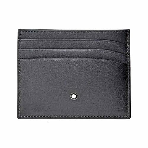 Montblanc Meisterstuck Business Card Holder MB-113172 Men's Grey Color Leather
