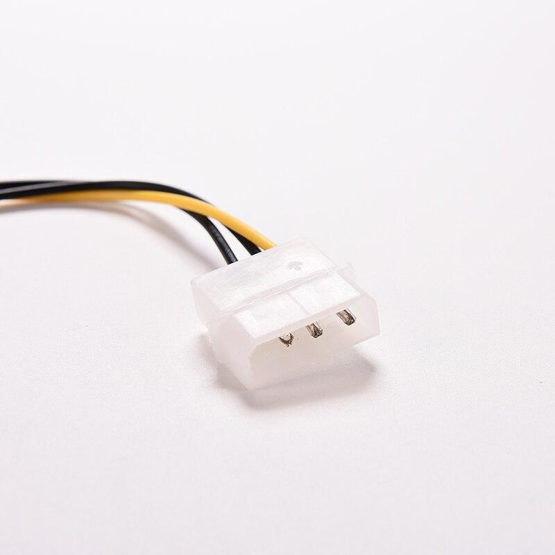 2 ПК 20 см 4 контакт Molex IDE к 3 контакт ПК компьютер процессор корпус вентилятор питание разъем кабель адаптер