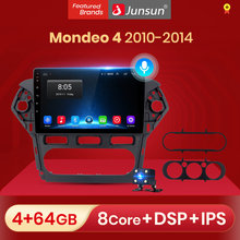 Junsun V1 Android 10.0 Dsp Ai Voice Control Auto Radio Multimedia Video Player Voor Ford Mondeo 4 2010-2014 geen 2 Din Autoradio