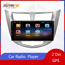 JIUYIN Car Radio Multimedia no 2 din android Video Player Navigation GPS For solaris Hyundai 1 Accent Verna sedan for Android