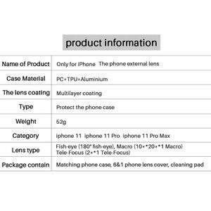 Image 5 - Ulanzi טלפון מקרה 3 ב 1/5 ב 1 טלפון עדשת CPL מסנן/10X/20X מאקרו/Fisheye/2X טלה עדשה עבור iPhone 11/11 Pro/11 Pro מקסימום