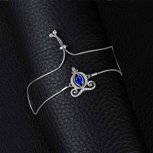 Image 2 - Carriage Created Sapphire Bolo Bracelet Bangles 925 Sterling Silver Gemstones Bracelets For Women Silver 925 Jewelry Making