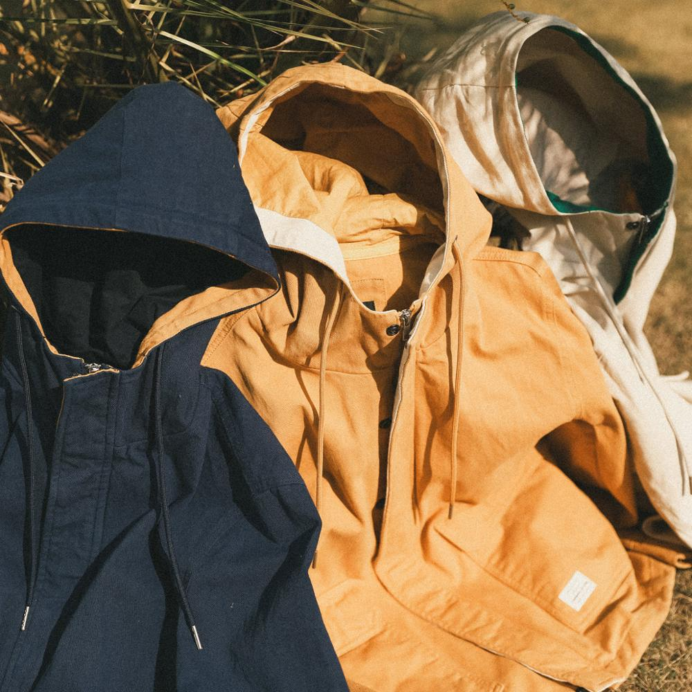 SIMWOOD 2019 Autumn New  Fashion Jacket Men Shorts Casual Jackets 100% Cotton Coats Pocket High Quality Brand Clothing 190092